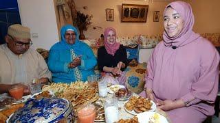 شمتاتها الساعة😂 فطور أول يوم رمضان مع عائلة لالة حادة