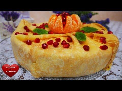 Блинный торт на масленицу | Рецепт тонких блинов | Рецепт крем-чиза
