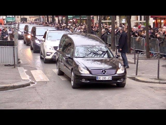 Invités aux obsèques de la chanteuse France Gall a Paris