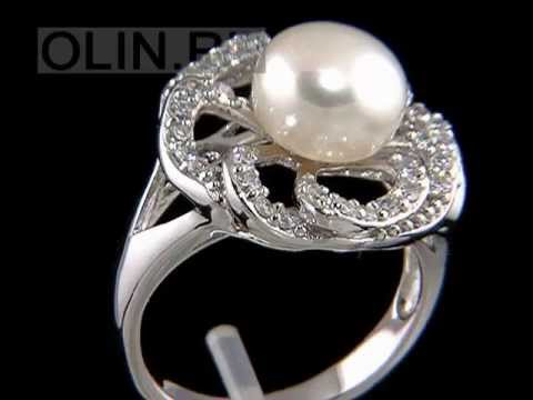 Кольца с жемчугом в каталоге ОЛИН