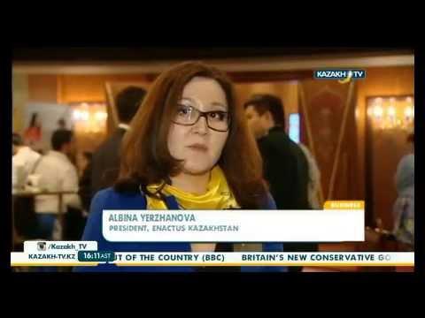 Kazakh TV news Enactus Kazakhstan Expo 2015 rus