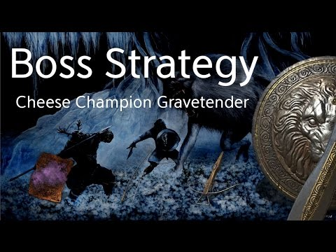 Dark Souls 3 SL1 Boss Cheese : Champion's Gravetender & Greatwolf