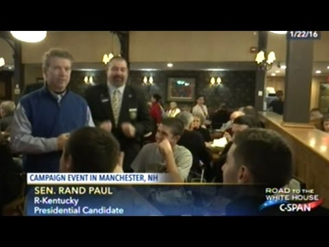 Rand Paul Meet And Greet In Manchester New Hampshire