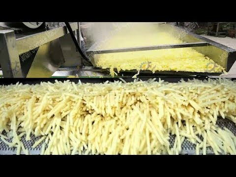 Awesome Automatic Potato Processing And French Fries Making Machines In Food Factory