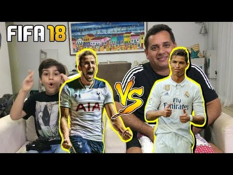 FIFA 18 - REAL MADRID X TOTTENHAM. HUMILHAÇÃO NO CANAL CADU TOP GAMES