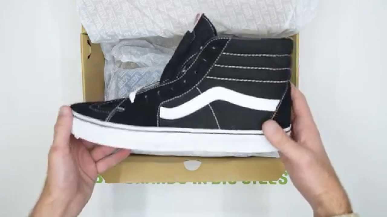 20a6596d16 Vans SK8-Hi - Black White - Walktall