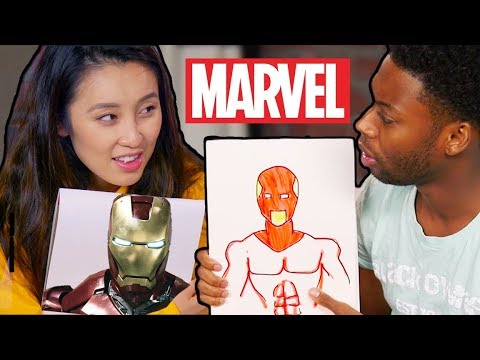 DRAWING MARVEL CHARACTERS FROM MEMORY