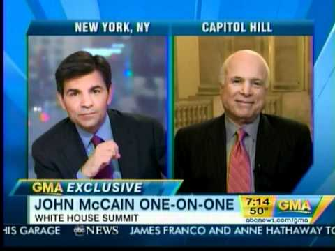 SENATOR JOHN McCAIN ON GOOD MORNING AMERICA 11-30-10