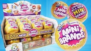 Full Case Mini Brands Series 2 with Rare GOLD! Zuru 5 Surprise Balls