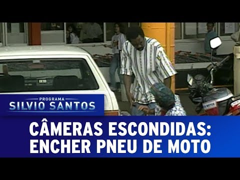 Encher Pneu de Moto   Câmeras Escondidas (08/10/17)