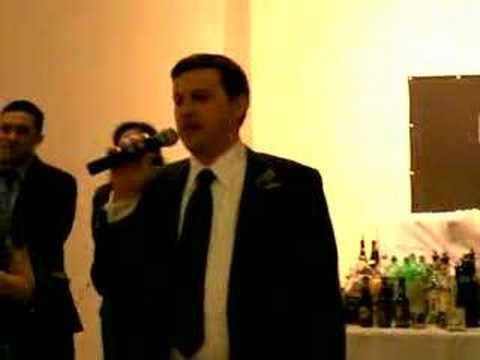 Hilarious Best Man Speech - Tony and Ashley Burns' Wedding