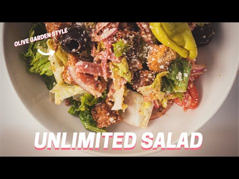 SALAD AND BREADSTICKS! | Olive Garden Style Unlimited Salad and Breadsticks