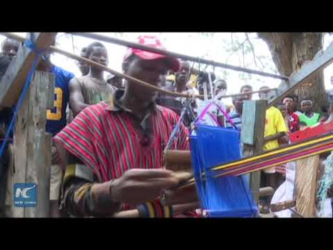 Unique weaving competition in Ghana