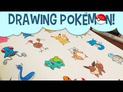 Drawing Pokemon Characters With Copic Markers