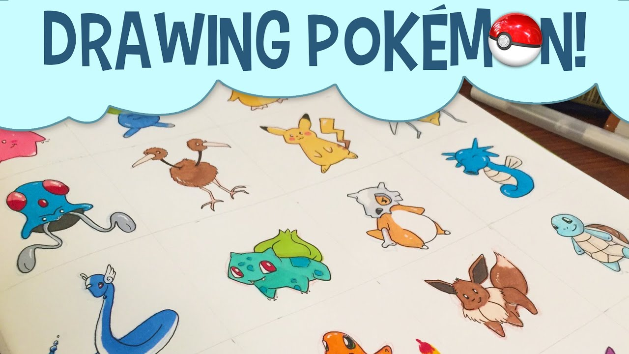 Uncategorized Pokemon Drawing Games drawing pokemon characters with copic markers youtube