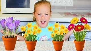 Learn Colors for Children with Baby Color Flowers