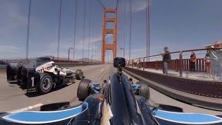 GoPro VR: Indycars over the Golden Gate Bridge(GoPro Spherical puts you in the driver's seat of a GoPro IndyCar. Cruise along with the pack as they carry the IndyCar trophy across the iconic Golden Gate ..., 2015-10-14T19:00:00.000Z)