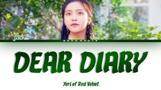 Download Lagu YERI (예리) - DEAR DIARY (스물에게) Color Coded Lyrics/가사 [Han|Rom|Eng]