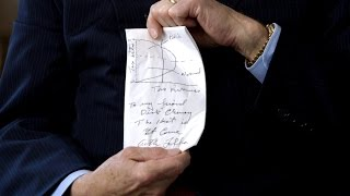 Dick Cheney, Donald Rumsfeld and Arthur Laffer on the Dinner Napkin that Changed the Economy