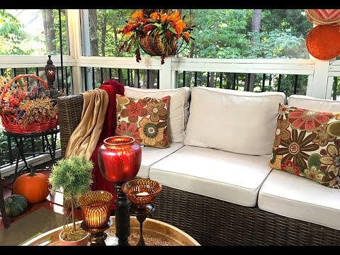 My Autumn Screened Porch Decorating With Good Will Finds