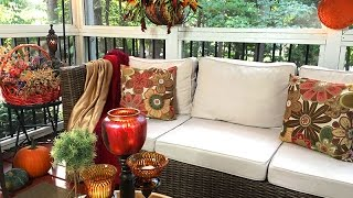 My Autumn Screened Porch   Decorating with Good Will Finds🍁