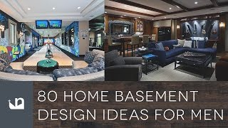 80 Home Basement Design Ideas For Men