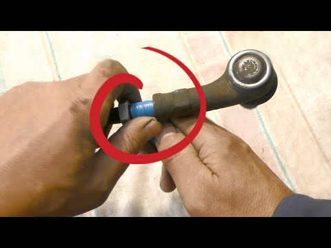 Замена рулевого наконечника без сход развала
