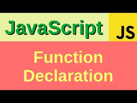 Function Declaration in Javascript - Basic JavaScript Fast