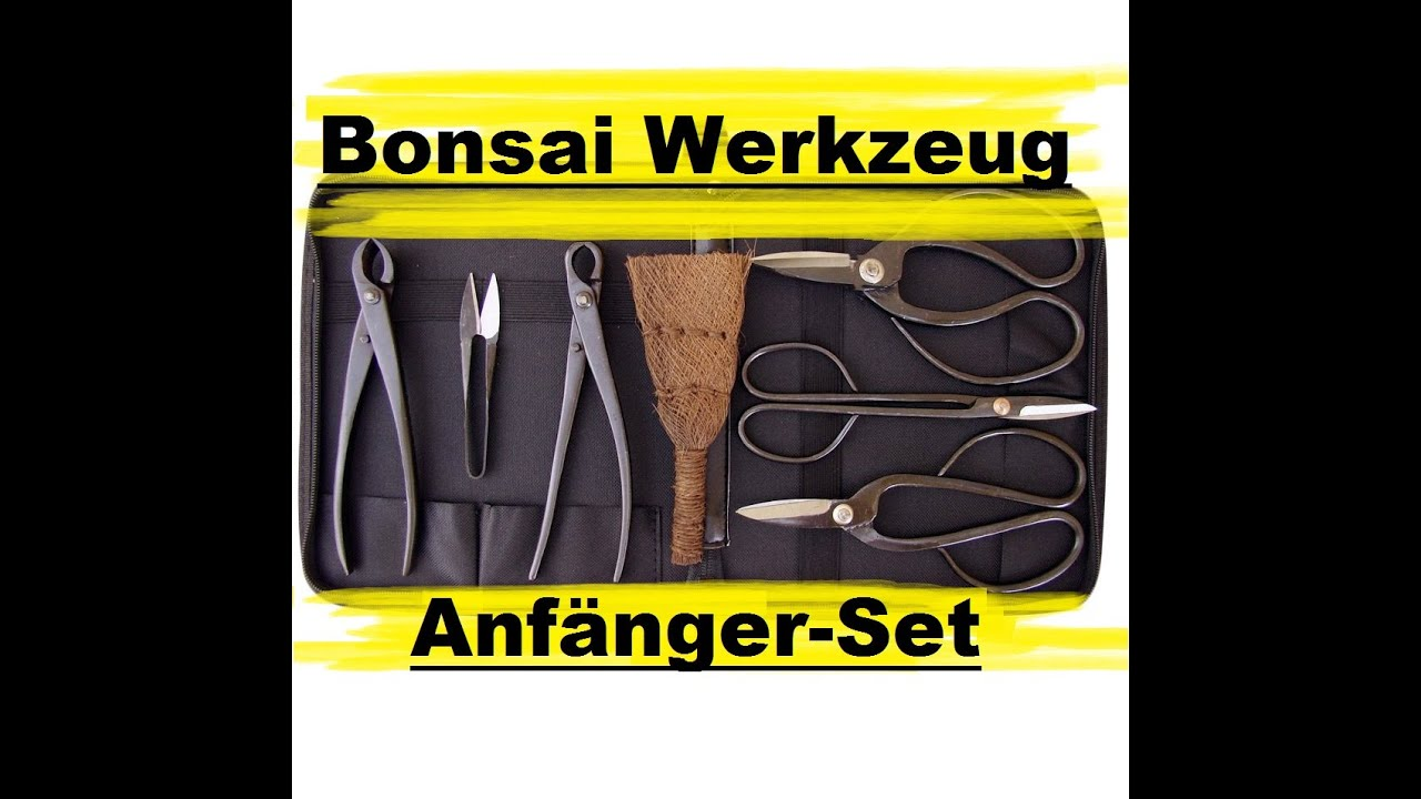 7 teiliges bonsai werkzeug set empfehlenswert youtube. Black Bedroom Furniture Sets. Home Design Ideas