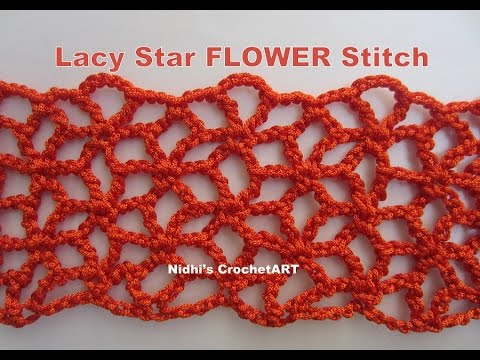How To Crochet Lacy Star Flower Stitch Tutorial Youtube