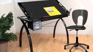 Studio Designs Futura Drafting Table With Glass Top