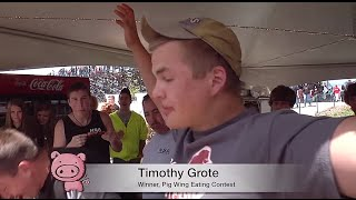 Porkies Pig Roast : Pig Wing Eating Contest at the McHenry County Fairgrounds