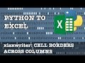 Python to Excel: Cell borders across multiple columns in xlsxwriter