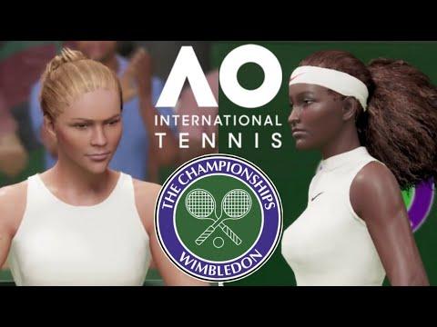 AO International Tennis PS4 Deutsch - Riske vs S. Williams   Wimbledon 2019