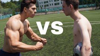 BODYBUILDER VS LAUCH | Fußball Challenge