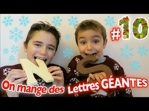 On mange des LETTRES GÉANTES ! - CALENDRIER DE L'AVENT SURPRISE - JOUR 10
