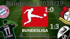 BUNDESLIGA 18/19  4.Spieltag - Zusammenfassung & Ergebnisse