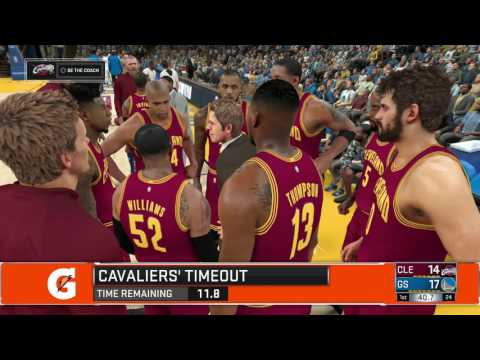 NBA 2K17 - Golden State Warriors vs Cleveland Cavaliers - Full Game [PS4/XB1] Gameplay