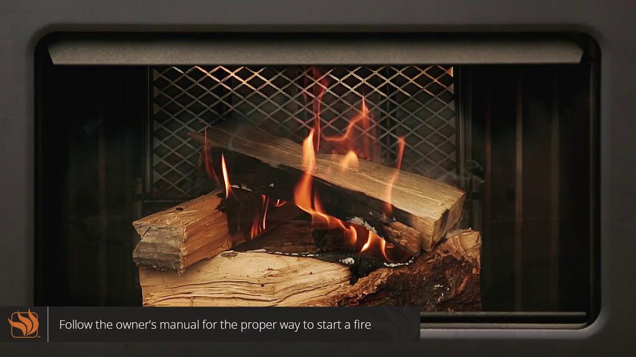 supreme fusion wood burning fireplace insert youtube
