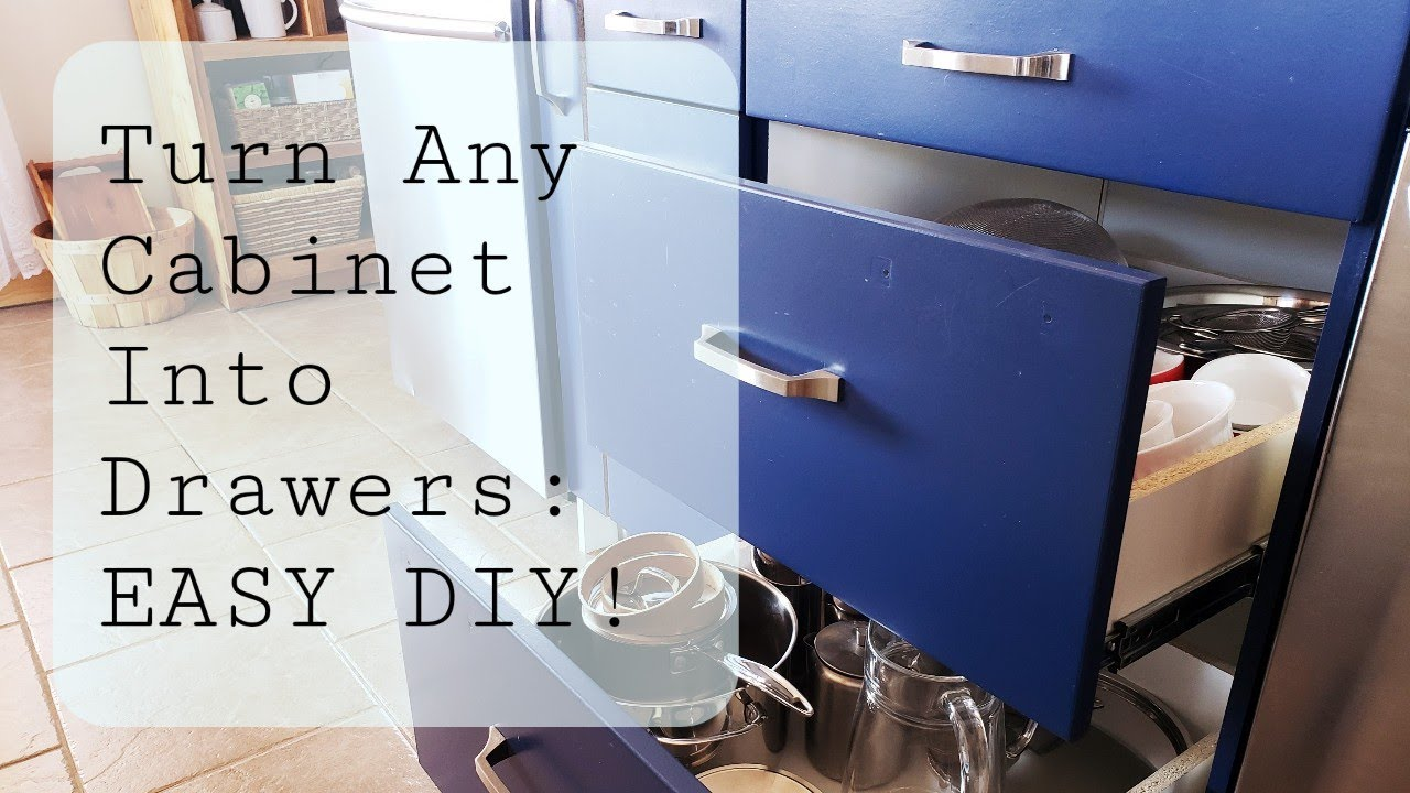 Convert Kitchen Cabinets to Drawers - Farmhouse Renovation ...