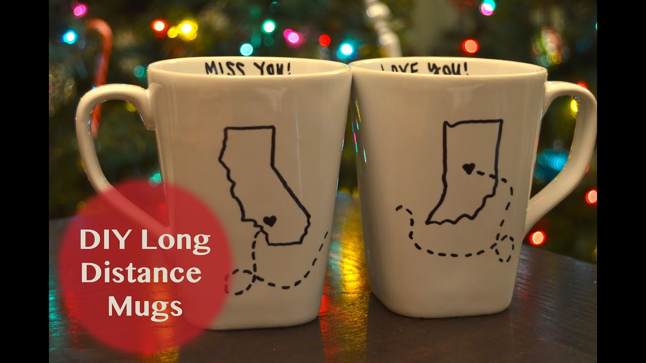 DIY Holiday Gift Ideas | Long Distance Mugs - YouTube