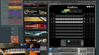 Zone Matrix - Live Performance and Multi Library Orchestral Palate Creation