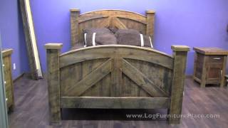 Alpine Heirloom Barn Wood Bed From Logfurnitureplace.com