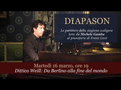 Lezione-concerto M° Michele Gamba sul dittico Kurt Weill