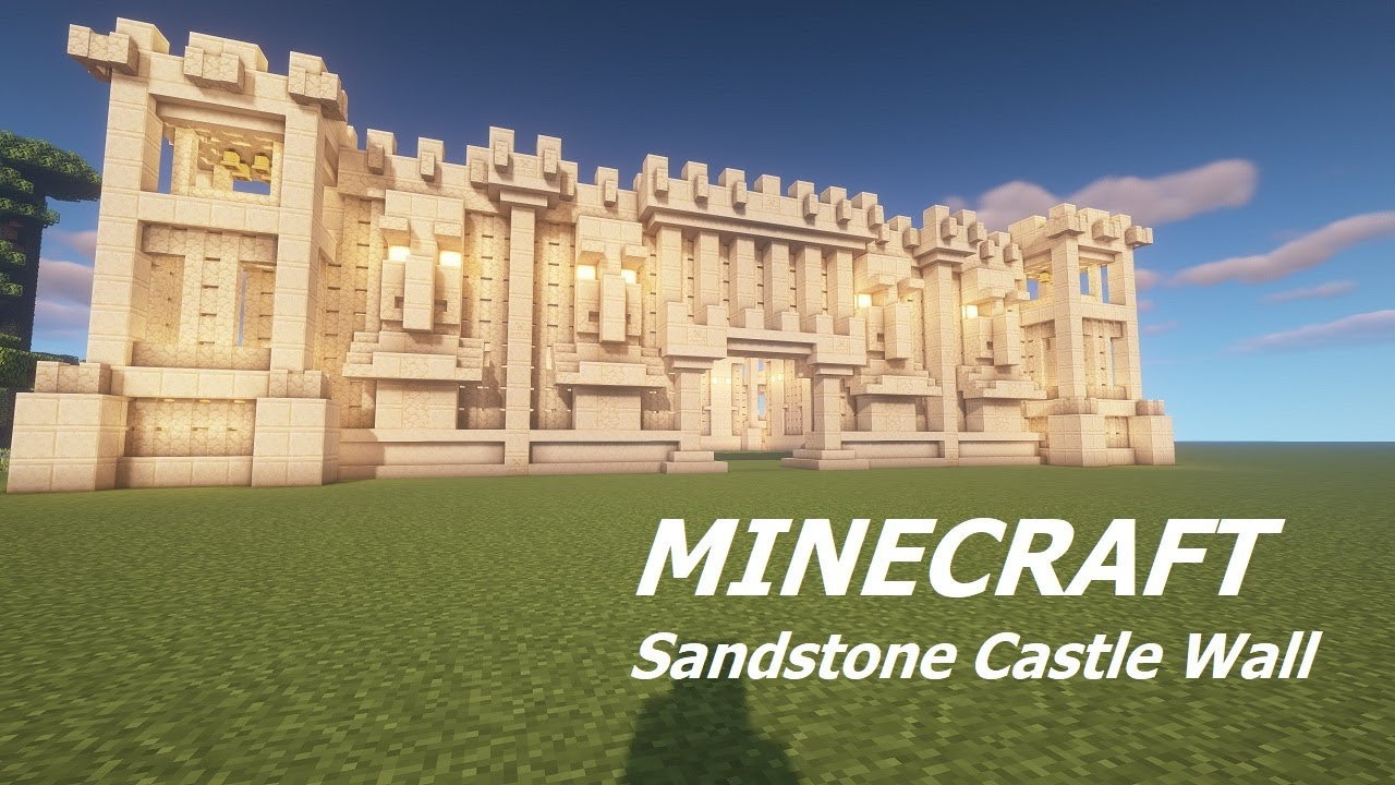 How to build a Sandstone Castle Wall (Tutorial) Minecraft Map