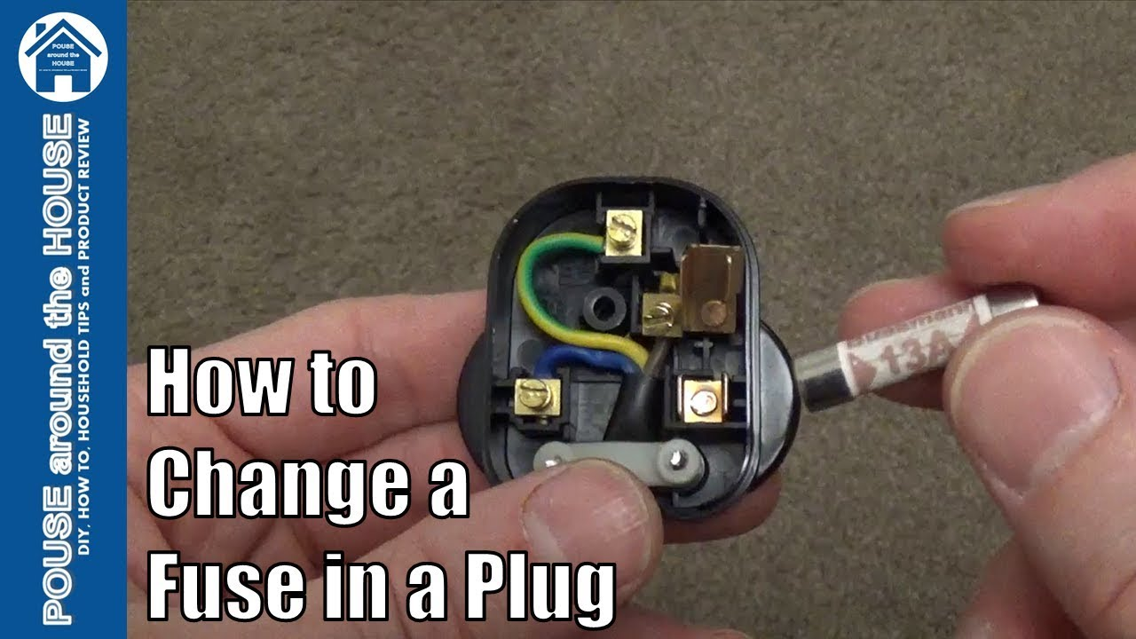 How to change a fuse in a plug  Replace a 3 pin plug fuse