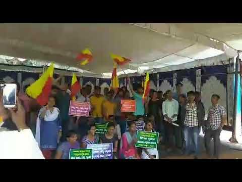 Kannada paksh and  bank aspirant's  Hunger strike in Bangalore