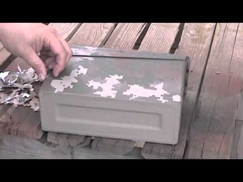 Paper Stencil and Spray Paint Camo - YouTube