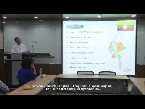 News Industry & Journalism Workshop presentation (Myanmar) -