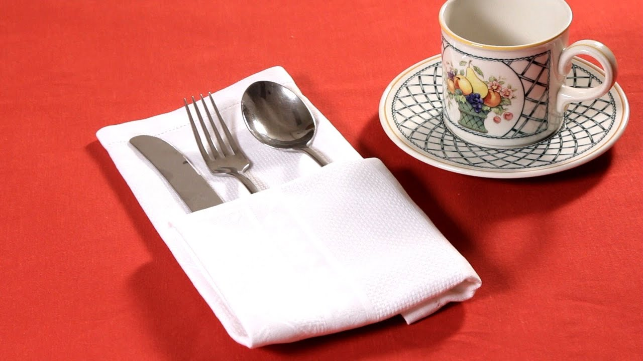 how to fold napkin into single pocket fold napkin folding